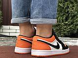Чоловічі демісезонні кросівки Nike Air Jordan 1 Retro,білі з помаранчевим, фото 6