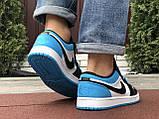 Чоловічі демісезонні кросівки Nike Air Jordan 1 Retro,сині з чорним, фото 4