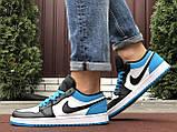 Чоловічі демісезонні кросівки Nike Air Jordan 1 Retro,сині з чорним, фото 5