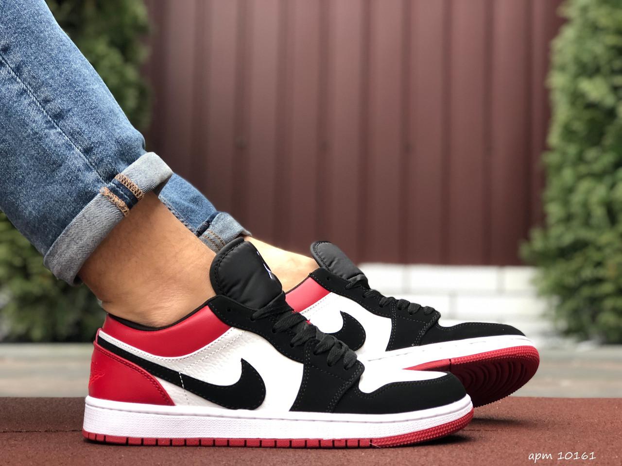Мужские демисезонные кроссовки Nike Air Jordan 1 Retro,белые с черным/красным