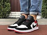 Мужские демисезонные кроссовки Nike Air Jordan 1 Retro,белые с черным/красным, фото 3