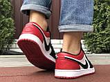 Мужские демисезонные кроссовки Nike Air Jordan 1 Retro,белые с черным/красным, фото 5