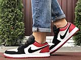 Мужские демисезонные кроссовки Nike Air Jordan 1 Retro,белые с черным/красным, фото 6