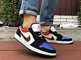 Чоловічі демісезонні кросівки Nike Air Jordan 1 Retro,різнокольорові, фото 3