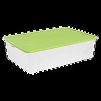 Контейнер для зберігання речей Алеана 22л, оливковий (122042)