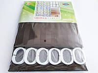 """Штора для ванної текстильна Chaoya """"Смужка"""", 180х180 см, коричневий"""