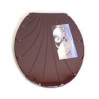 """Кришка для унітазу Chaoya """"Ракушка"""", коричневий (KR-кор)"""