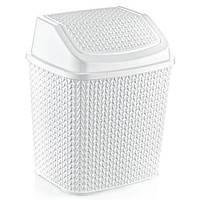 Відро для сміття OZ-ER PLastik KNIT 6.2 л, білий (O005-X24)
