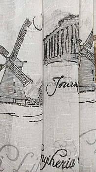 """Красивый кремовый тюль из льна """"города"""", высота 2,8м (820-29)"""