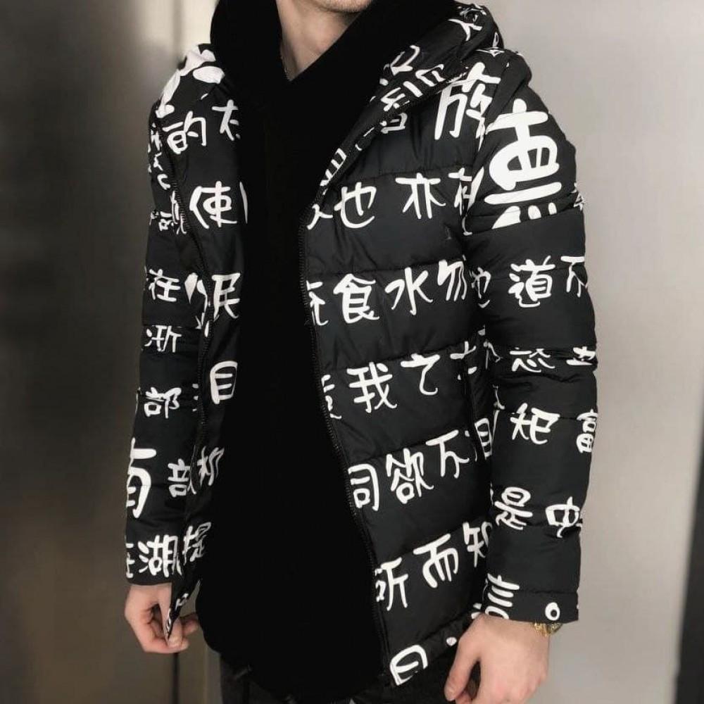 Куртка Иероглиф черная