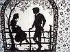 """Зонт ZEST, полуавтомат серия 10 спиц расцветка """"Date"""" черно-белый, фото 6"""
