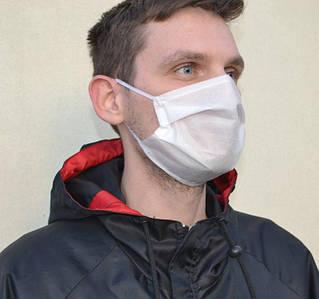Маска для лица защитная тканевая MHZ трехслойная Белый (iz00620)