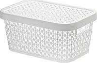 Коробка ПИРУЛА IDEA 12л з кришкою, білий (М2349Б)