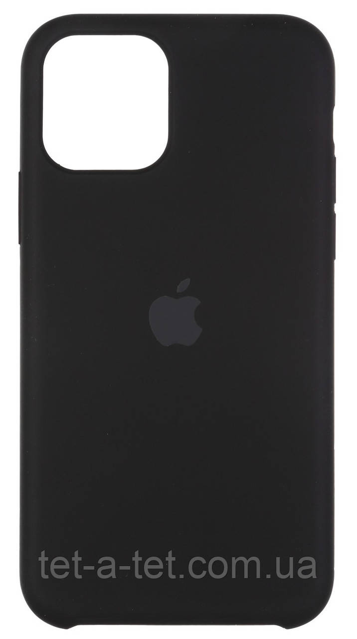 "Силіконовий чохол Silicone Case (High Copy) для Apple iPhone 11 Pro Max (6.5"") - Чорний (Black)"