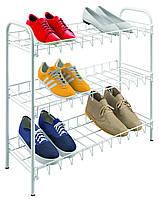 Полиця для взуття 3-х рівнева 64*23*59см SHOE3 Metaltex, білий (365503)
