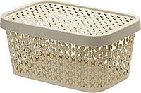 Коробка ПИРУЛА IDEA 12л з кришкою, латте (М2349Л)