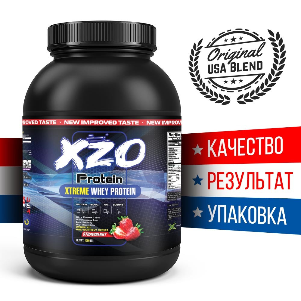 Белковый коктейль концентрат для мужчин 80% белка XZO Nutrition США   1 кг   33 порций