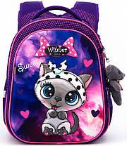 Набор рюкзак школьный ортопедический для девочки в 1-4 класс пенал и сумка для обуви Winner One R1-002, фото 3
