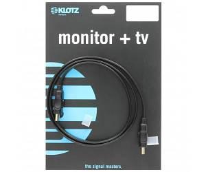 KLOTZ HDMI-FL050 Готовый кабель HDMI-HDMI, 5м