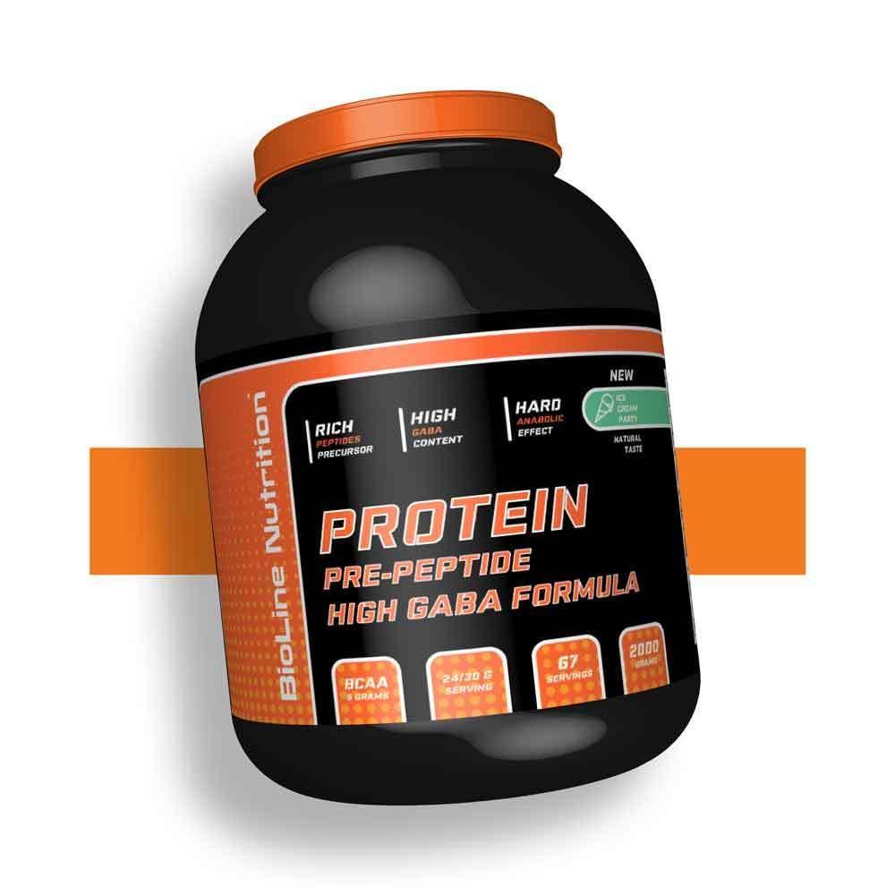 Протеїн ізолят казеїн яєчний для росту м'язів 80% білка BioLine Nutrition Німеччина   банку 2 кг   67 порцій