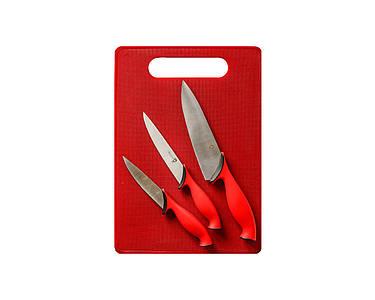 Набор ножей с разделочной доской Swiss Zurich Красный (2249)