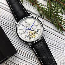 Оригінальні Чоловічі Наручні годинники механіка з автопідзаводом Brucke J025 Brown-Silver-White / шкіряний ремінець, фото 3