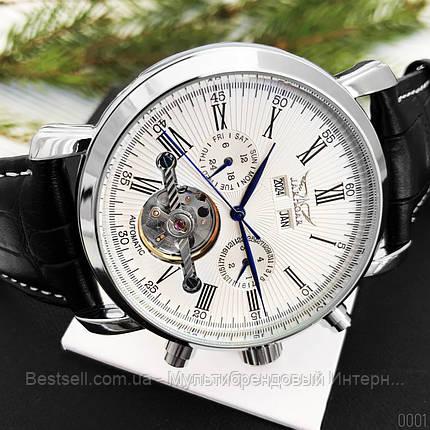 Оригінальні Чоловічі Наручні годинники механіка з автопідзаводом Brucke J025 Brown-Silver-White / шкіряний ремінець, фото 2