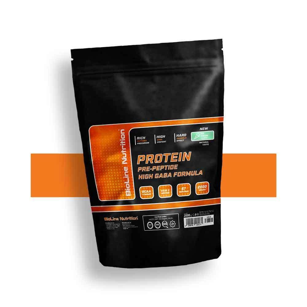 Протеїн бцаа амінокислоти для чоловіків 80% білка BioLine Nutrition Німеччина   пакет 2 кг   67 порцій