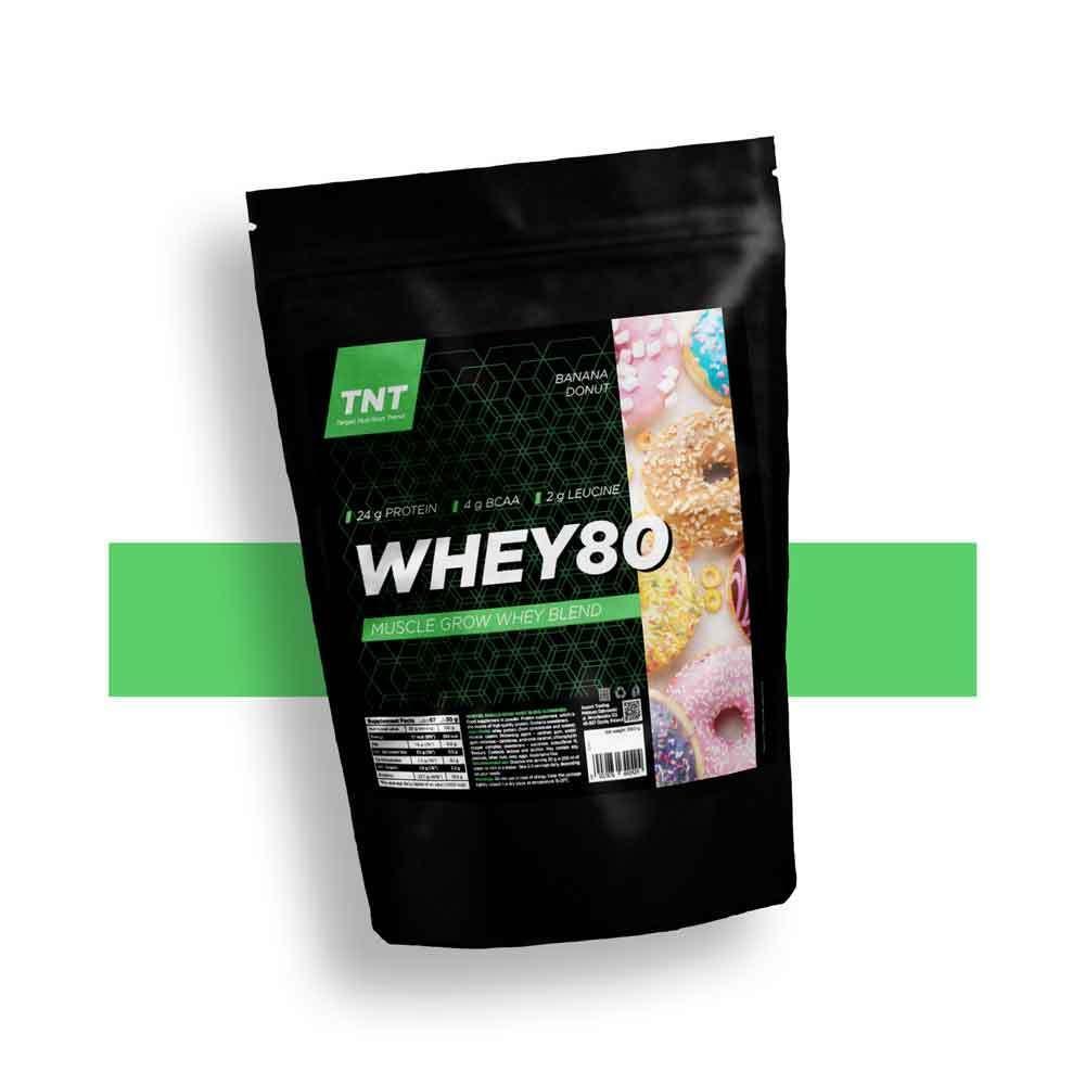 Протеїн ізолят казеїн для росту м'язів 80% білка WHEY80 TNT Польща   2 кг   67 порцій