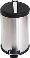 Відро для сміття з педаллю Eco Fabric SmartSteel 20л, нержавіюча сталь (TRL0202-20L)