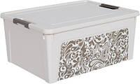 """Контейнер Алеана """"Smart Box"""" 7.9 л з декором Home, б.роза/какао (124056)"""