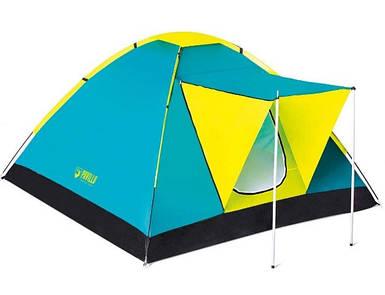Палатка кемпинговая трехместная однослойная с тамбуром Bestway 68088 Cool Ground
