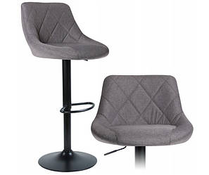 Стул барный хокер Homart 900TB серый текстиль (9337)