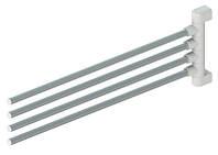 Вішалка для рушників 4 держателя, 47 см Prima Nova, біла (CB04-01)
