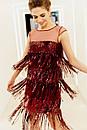 Женское коктейльное платье бордовое с пайетками и бахромой RicaMare MKRM1943-19VC, фото 2