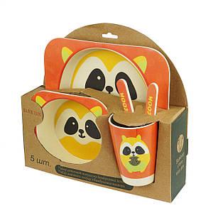 Набор детской бамбуковой посуды Supretto Енот (H0053-0003)