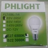 Cветодиодная лампочка LED 6500 K  7 W PHLIGHT, фото 2