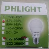 Світлодіодна лампочка LED 6500 K 12 W PHLIGHT, фото 2