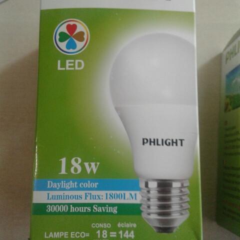 Світлодіодна лампочка LED 6500 K 18 W PHLIGHT