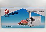 Электромясорубка Domotec MS-2018 1600W | Электрическая мясорубка | соковыжималка, фото 4