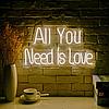 """Неонова вивіска """"All you need is love"""" 1000 mm x 450 mm з гнучкого неону"""