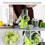 Ручная овощерезка Tabletop Drum Grater Kitchen Master, фото 6