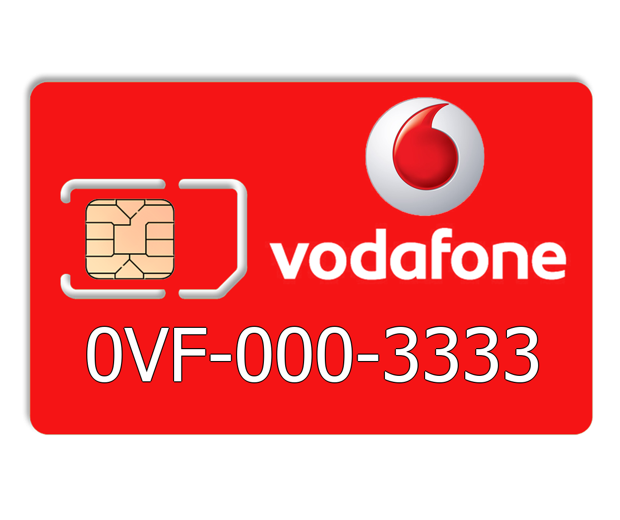 Красивый номер Vodafone 0VF-000-3333