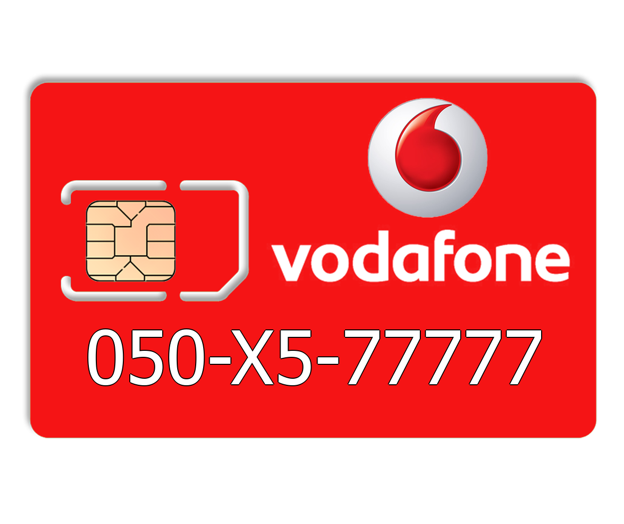 Красивый номер Vodafone 050-X5-77777