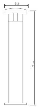 Светодиодный садово-парковый светильникHoroz HL214L 6400K IP44Код.58517, фото 2