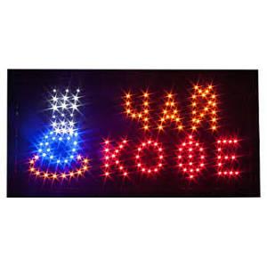 Светодиодная LED Вывеска Чай/Кофе 48х25 см световое табло (4600AA)