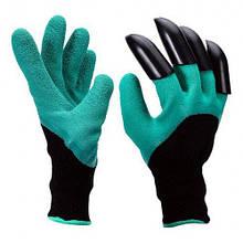 Перчатки хозяйственные с когтями для сада и огорода Garden Genie Gloves