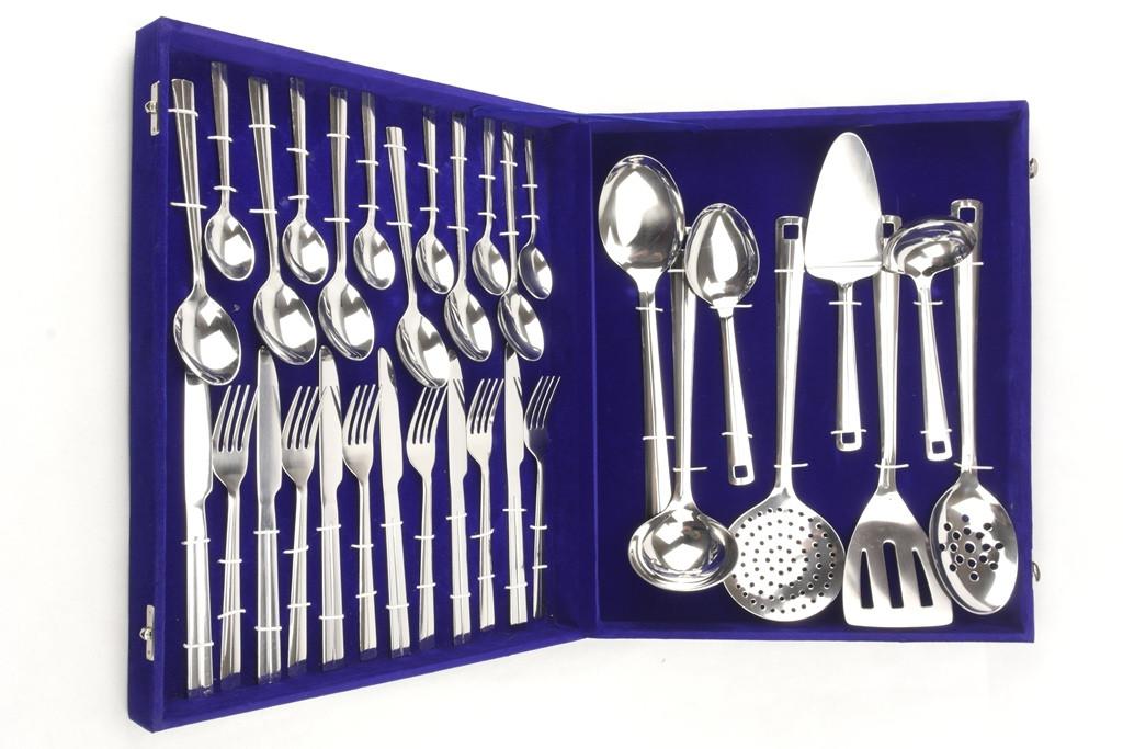 Набір столових предметів приладів ложки, виделки, ножі Ernesto Zoo - 32 предмета