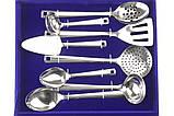Набір столових предметів приладів ложки, виделки, ножі Ernesto Zoo - 32 предмета, фото 3