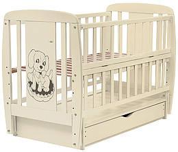 Ліжко Babyroom Собачка маятник, ящик, відкидний пліч бук слонова кістка